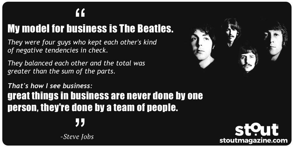 Steve Jobs On The Beatles and Teamwork