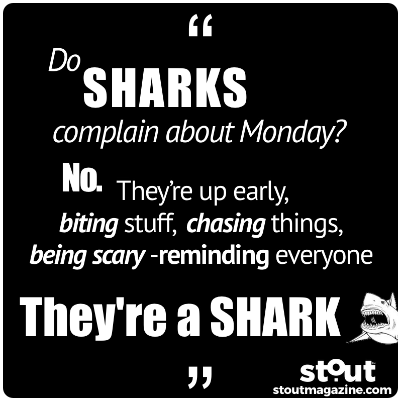 do sharks complain about monday