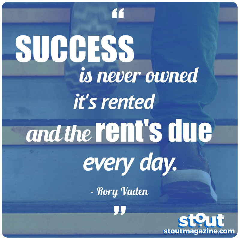 STOUT Monday Motivation-Keep Climbing!