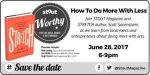 Stout event Stretch austho Scott Sonenshein and panel of executives