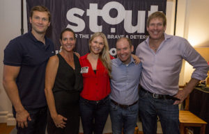 Stout's Doing More With Less Event Panelists Matt Laessig, Christi Hester, Founder of Stout Magazine, Ann Webb, Scott Sonenshein, Stretch author, and Hugh Forrest