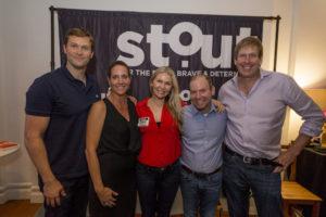 Stout's Doing More With Less Event Panelists Matt Laessig, Christi Hester, Founder of Stout Magazine, Ann Webb, Scott Sonenshein, Stretch author, and Hugh Forrest