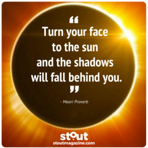 turn your face to the sun and shadows fall behind you eclipse 2017