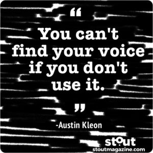 develop your voice tips form austin kleon and billy collins