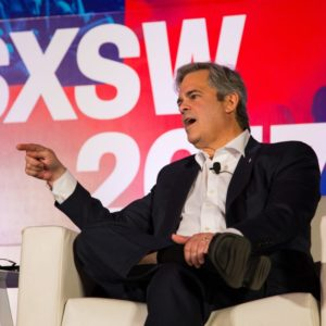 Mayor Steve Adler speaking at SXSW. (Photo by Kit McNeil)