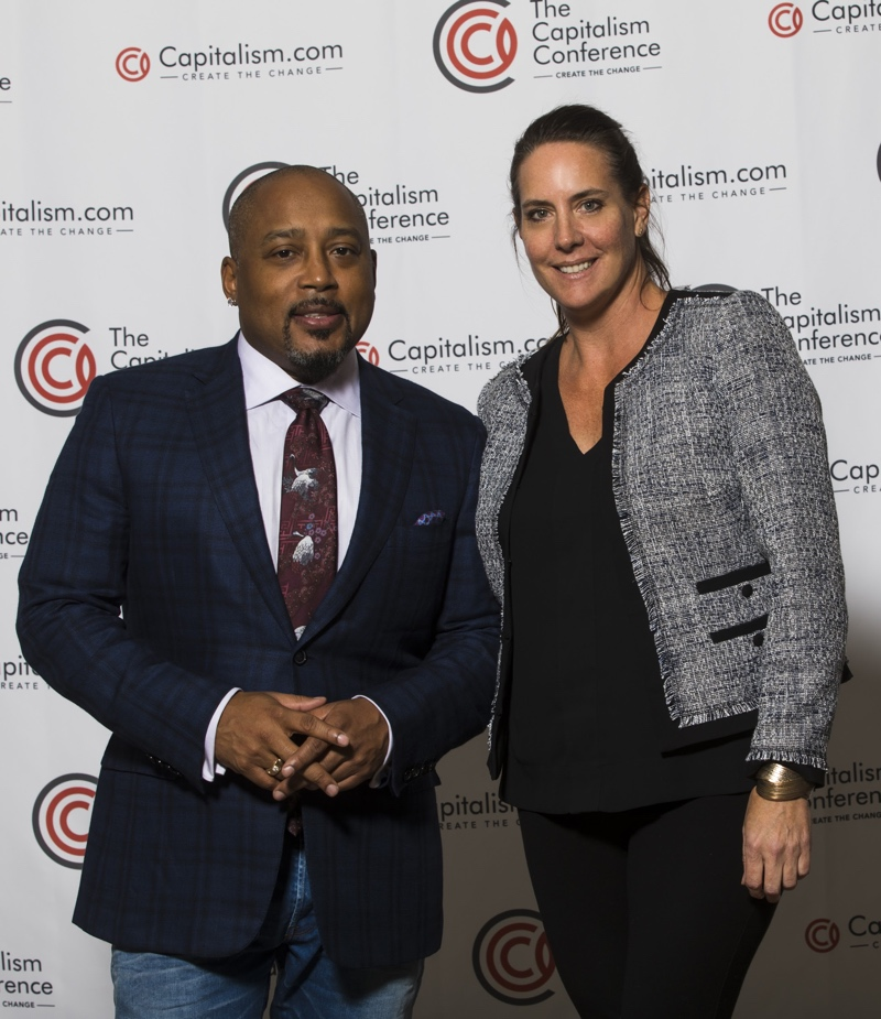 Christi Hester, Stout Magazine founder and publisher Daymond John, Shark Tank Investor