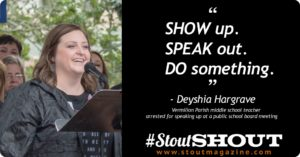 Deyshia Hargrave stout shout bold brave determined
