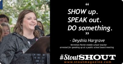 #StoutShout: To Deyshia Hargrave For Showing Up & Speaking Out for Educators, Staff and Students