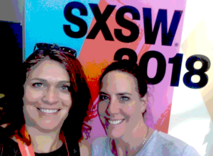 Stout Senior writer Andrea Frost and Stout Founder and Publisher Christi Hester capturing Stout insights live at SXSW 2018