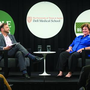 Mellie Pric talks about her role as executive director of commercialization, Dell Medical School