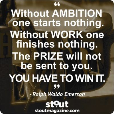 Monday Motivation: Set your eyes on the prize and win it