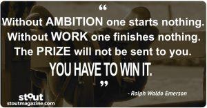 Stout Monday Motivation on Entrepreneurship Ralph Waldo Emerson