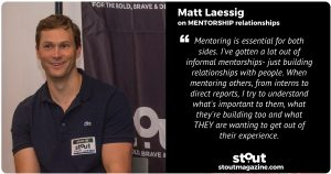 Matt Laessig COO & Co-Founder at data.world on mentorship.