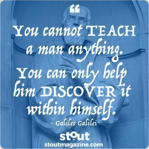 Stout Monday Motivation on Mentorship by Galileo