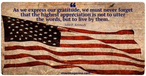 Stout Magazine Monday Motivation - Memorial Day 2018 inspiration from JFK