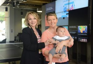 Gay broke ground in a male-dominated field, and implemented family-friendly policies including the T3 and Under program, allowing parent to bring their under-3 kids to work with them and creating spaces for them to step away for quiet time as needed.