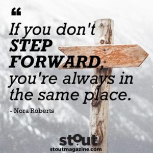 Stout Monday Motivation Nora Roberts On Moving Forward