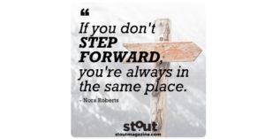 Stout Monday Motivation Nora Roberts On Moving Forward