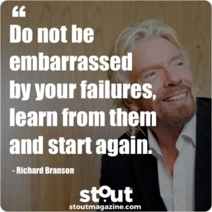 Stout Monday Motivation Richard Branson On learning from failure
