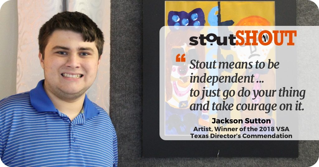 "StoutSHOUT To Jackson Sutton, A Rising Young Artist With A Unique Creative  ""Eye"""