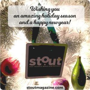 Stout Magazine Happy Holidays wish