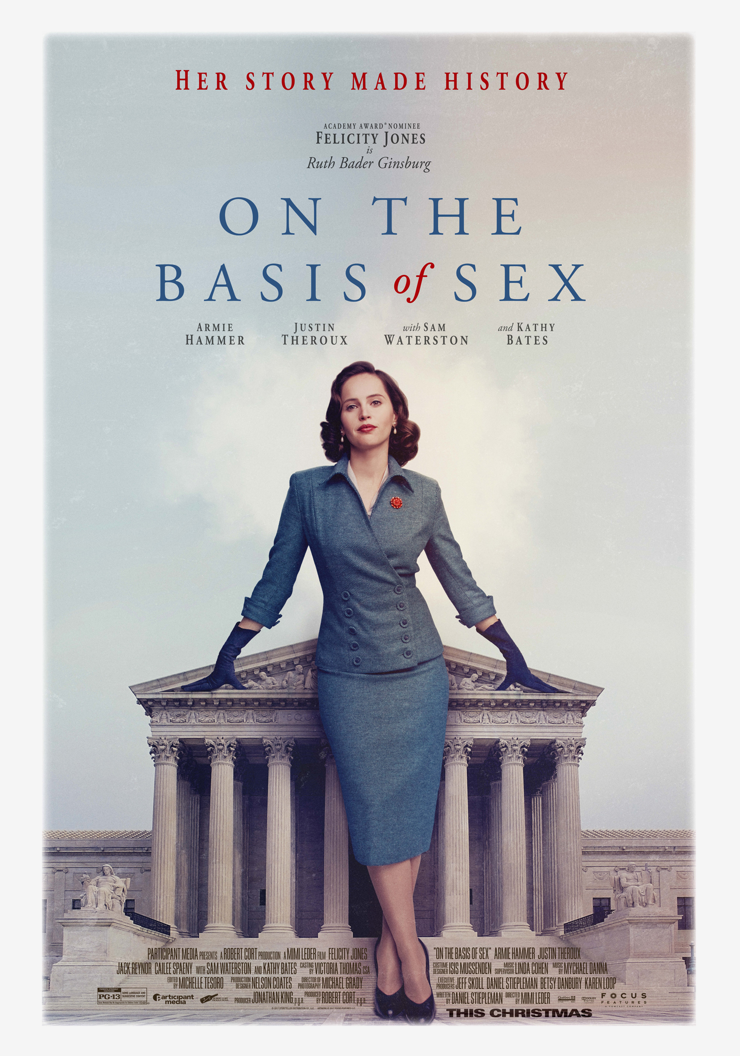 'On The Basis Of Sex' brings the story of Ruth Bader Ginsburg to the big screen.