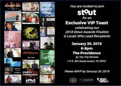 2018 Stout Awards Presentation & VIP Happy Hour