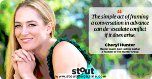 Cheryl Hunter - Stout Advice For Facing Conflict