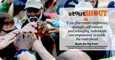 #StoutSHOUT To Back On My Feet For Building Confidence, Community & Connection