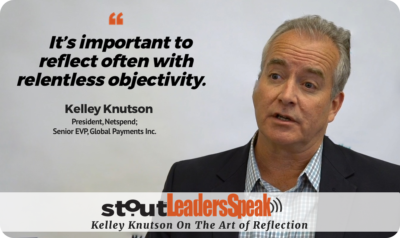 Leaders Speak: Kelley Knutson On Reflection & Growth