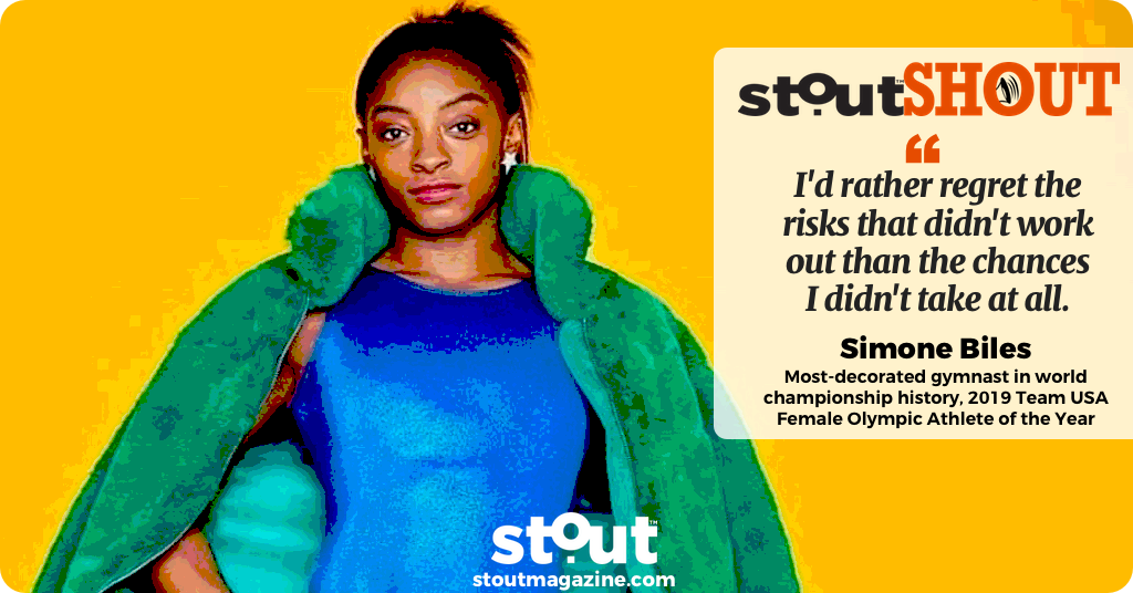 #StoutSHOUT To Simone Biles, 2019 Team USA Female Olympic Athlete of the Year